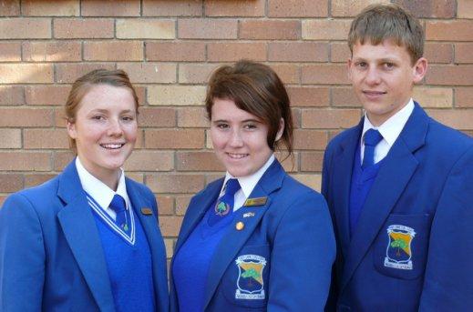 Deleen-Marie Steyn, Elrieta Crous, en Derik Steenkamp